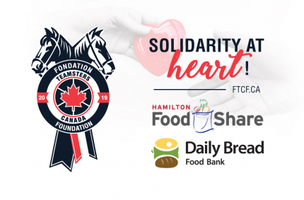 Teamsters Canada Foundation Gives $10,000 to two Ontario Food Banks.