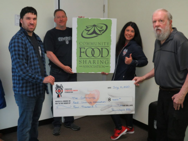 eamsters Canada Foundation Donates $4,000 to the Community Food Sharing Association